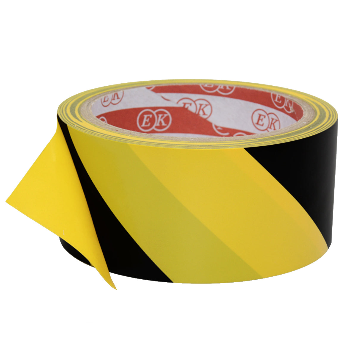 High Strength Adhesive Single-Sided Black and Yellow Standard Hazard Safety Warning Floor Tape for Social Distance, Strong and Water Resistant Tape (4.5cm x 17 meters)