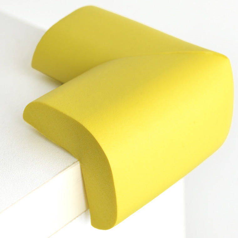 12 Pieces Yellow Jumbo L-Shaped Foam Corner Protectors