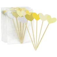 Yellow Hearts Topper Picks 50 Pieces