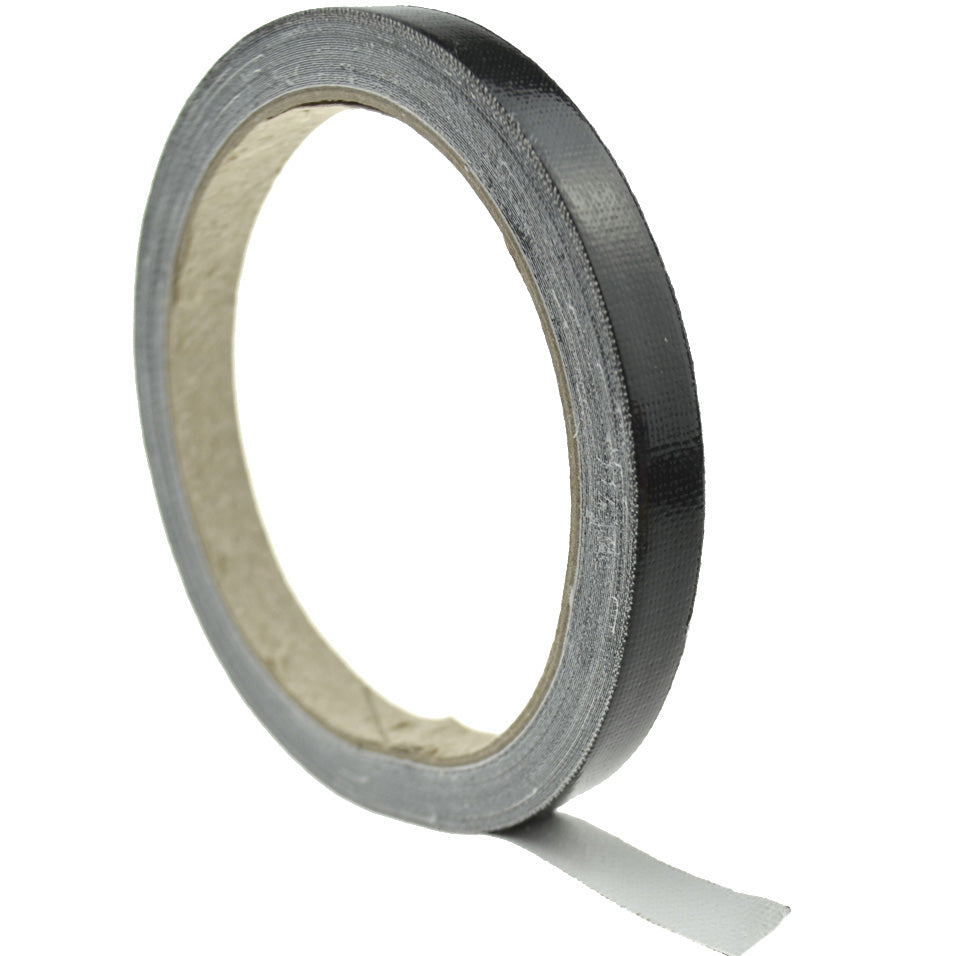 1cm (Black) High Strength Adhesive Single Sided Duct Tape Carpet Tape, Strong Water Resistant Tape