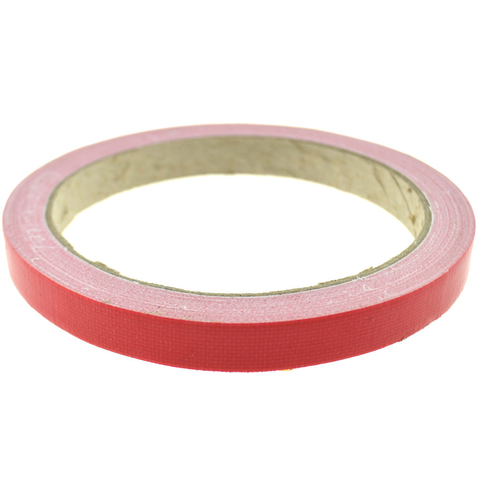 1cm (Red) High Strength Adhesive Single Sided Duct Tape Carpet Tape, Strong Water Resistant Tape