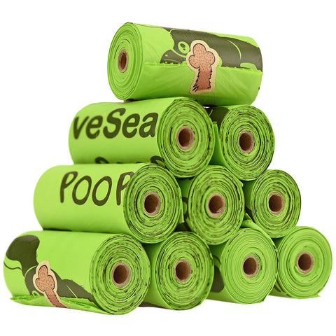 150 Bags 100% Biodegradable & Compostable Leak Proof Dog Poop Bag Lavender-Scented