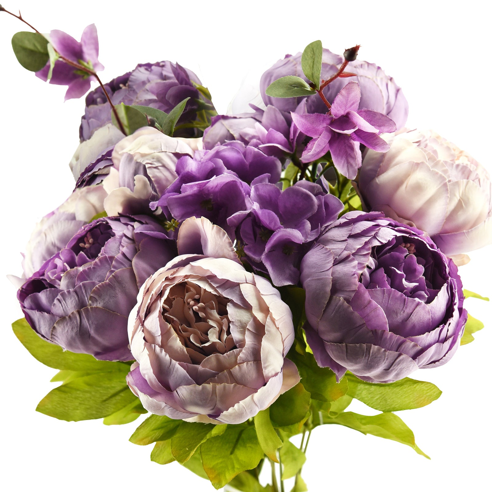Light Purple Silk Peonies Artificial Flower Bouquet