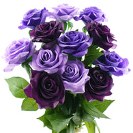 Real Touch 12 Stems Purple Mix Silk Artificial Roses Flowers 'Petals Feel and Look like Fresh Roses'