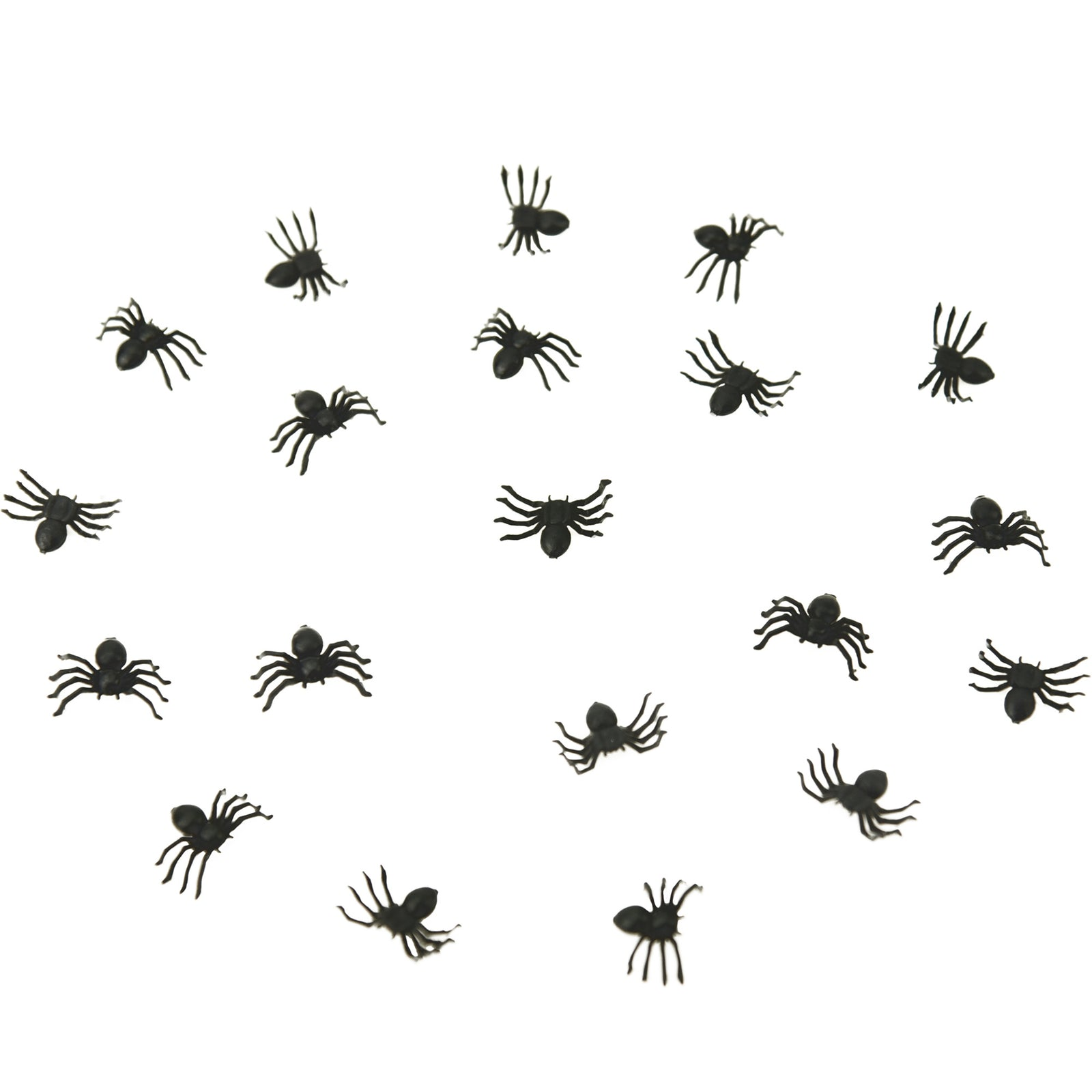 FiveSeasonStuff 50 Pcs x Black Plastic Spiders | Realistic Looking Fake Spider | Party Pranks | Practical Jokes | Halloween Props | Prank Insect