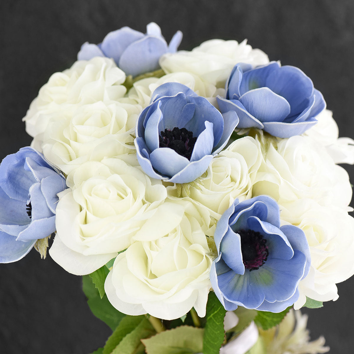 5 Long Stems (Light Blue) Anemone 'Real Touch' Artificial Flower
