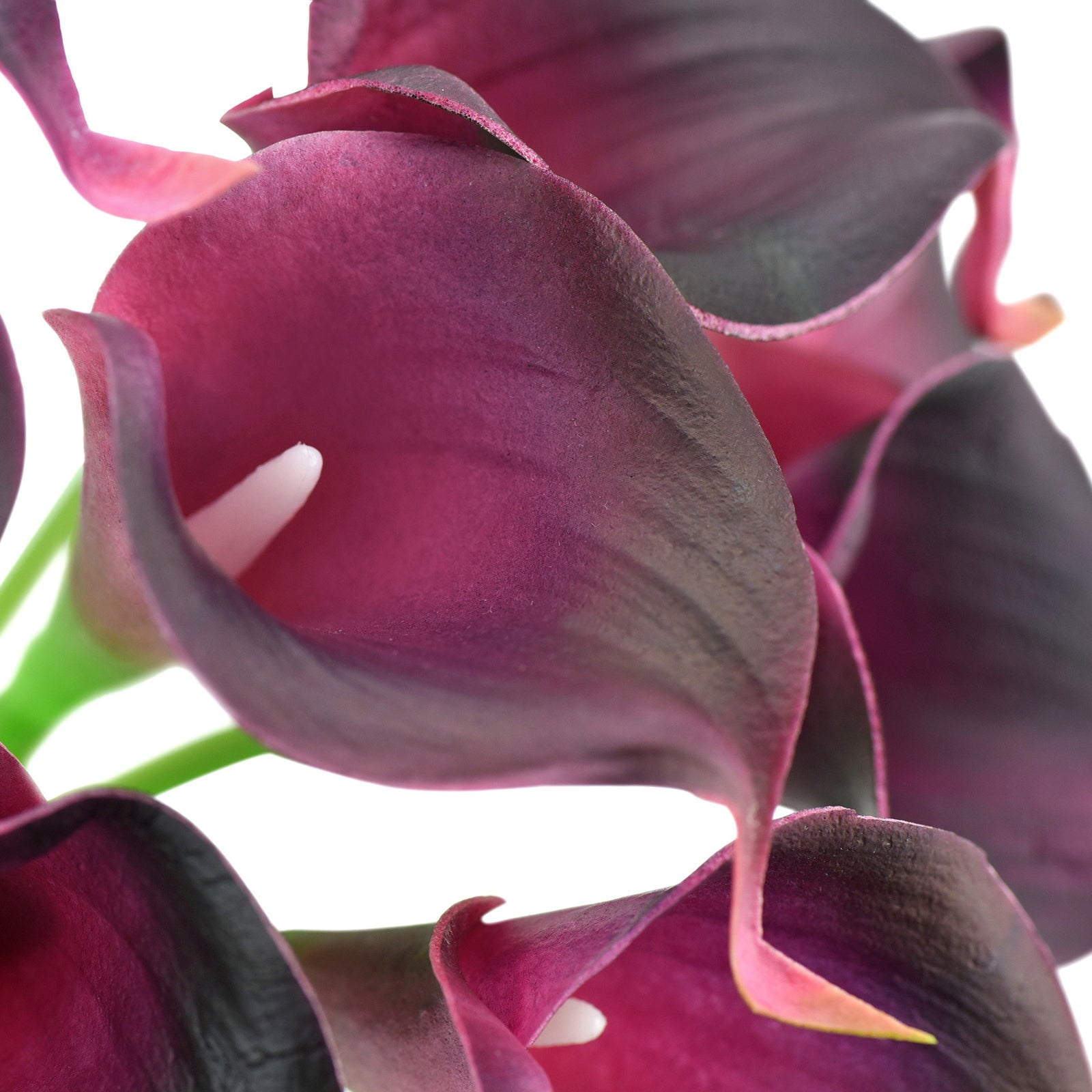 Real Touch Calla Lilies Artificial Flower Bouquet 10 Stems (Mulberry Purple)