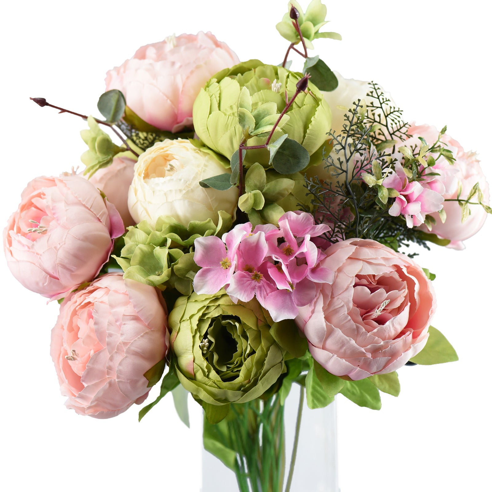 FiveSeasonStuff 2 Bundles (Spring Waltz) Peonies Artificial Flower Bouquet