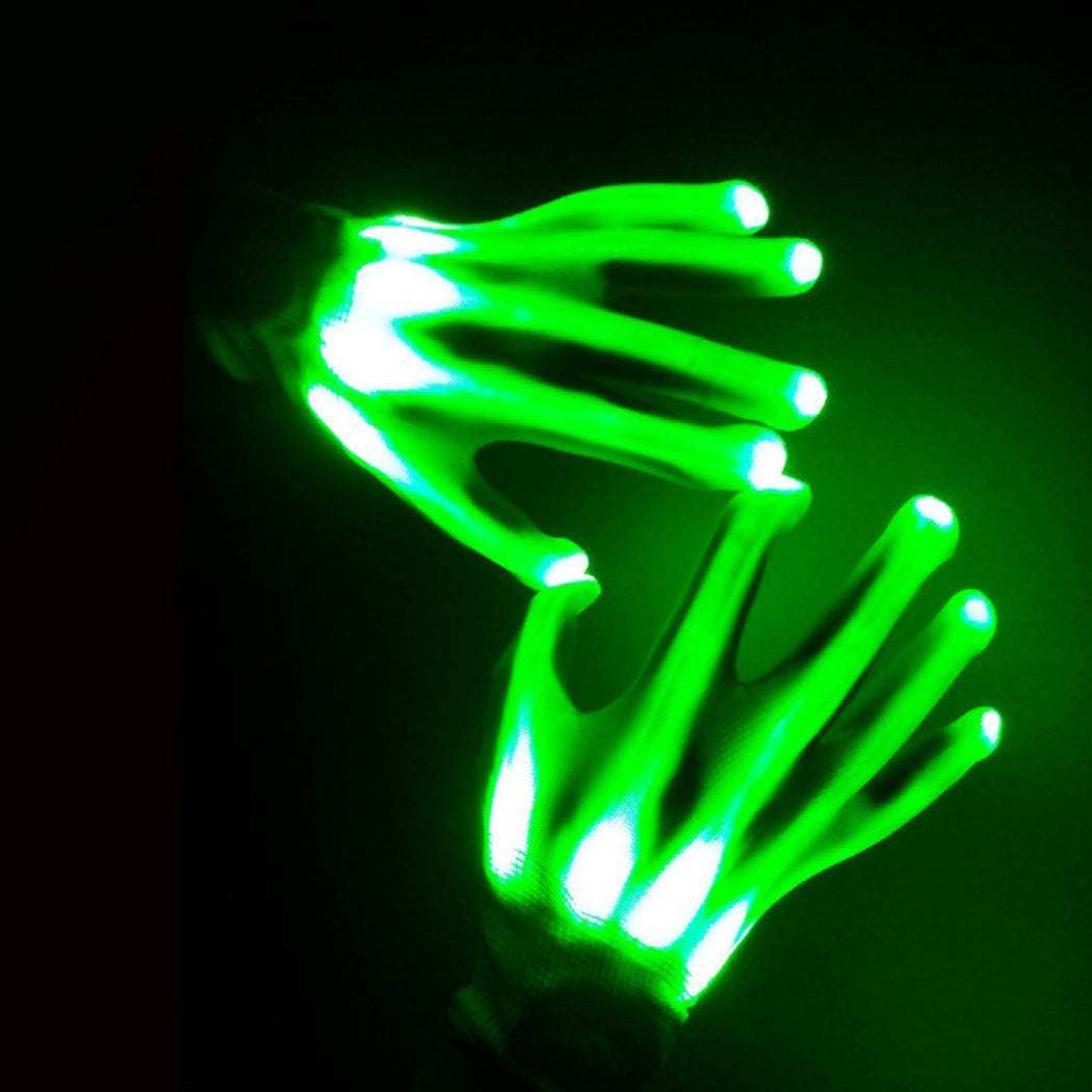 FiveSeasonStuff 1 Pair of LED Flashing Gloves | Halloween Props Cool Costume