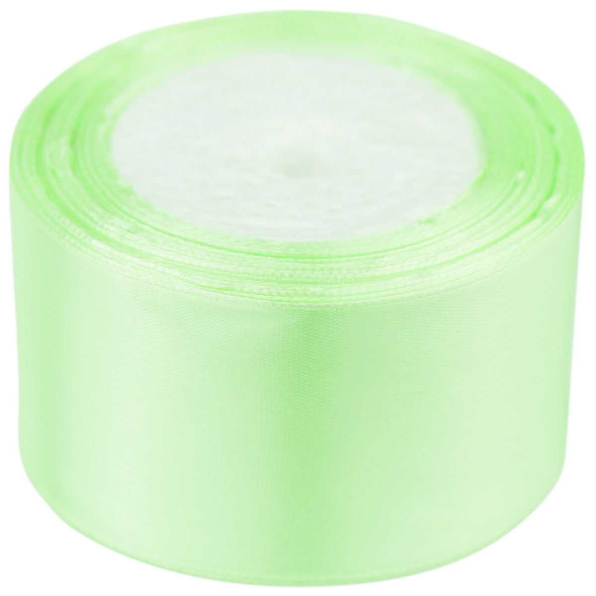 50mm Light Green Single Sided Satin Ribbon