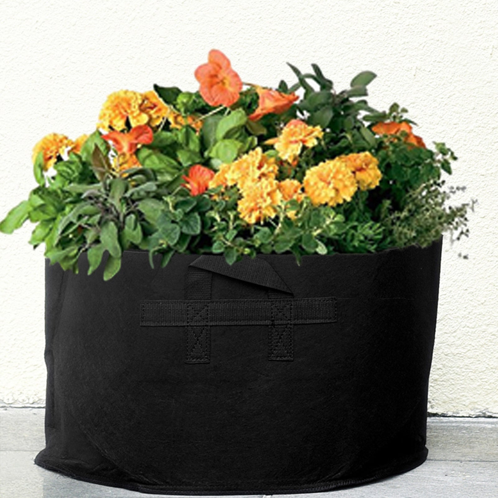 FiveSeasonStuff 7 Pack 15 Gallons Grow Bags - Black Breathable Fabric Pots for Healthier Plants Flowers – Heavy Duty Thick Container with Tear Resistant Handles - Aeration Planters for Smart Gardening