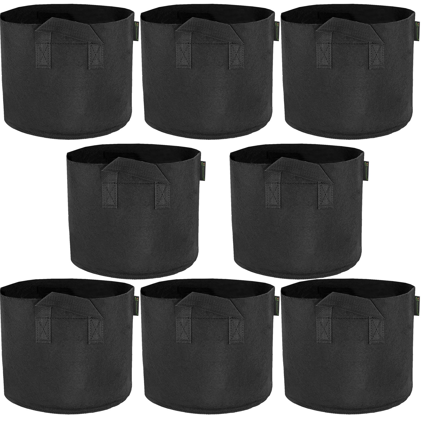 fiveseasonstuff-8-pack-5-gallons-grow-bags-black-breathable-fabric-pots-for-healthier-plants-flowers-heavy-duty-thick-container-with-tear-resistant-handles-aeration-planters-for-smart-gardening