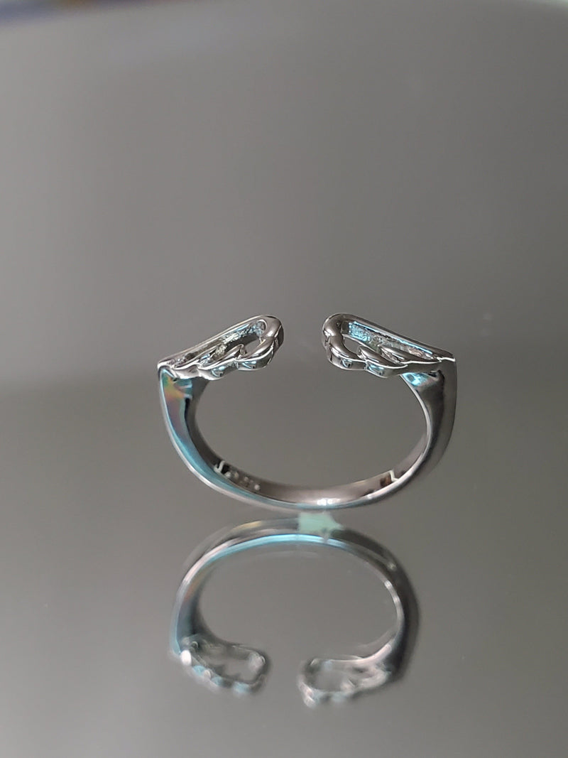 Spiritual Angel Wings Sterling Silver Ring
