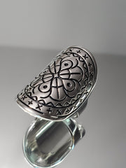 Bohemian Sterling Silver Shield Ring