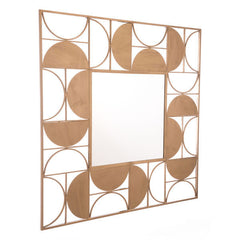 Enchanted Geometric Chiseled Gold Steel Mirror