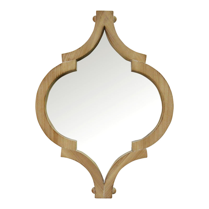 Handcrafted & Exotic Natural Slight Whitewash Wood Mirror