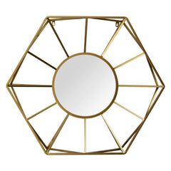 Sophisticated Hand-Painted Gold Feng Shui Bagua (Pa Kua) Mirror