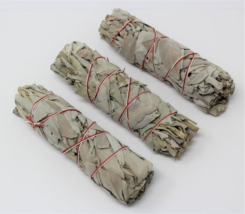 "3"" White Sage Smudge Stick 3 PK"