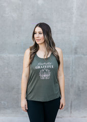 FOREVER GRATEFUL Affirmation Racerback Tank