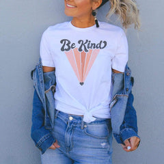 Be Kind Pink Graphic T-Shirt