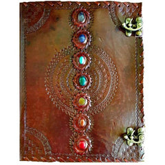 7 Chakra Leather Journal with Double Latch