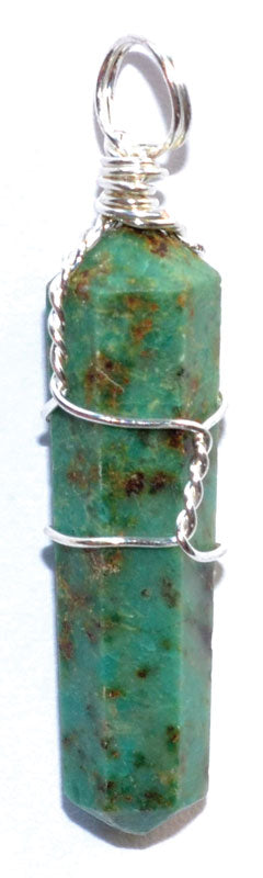 Natural Chrysocolla Wire Wrapped Point