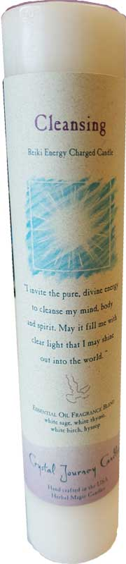 Cleansing Reiki Charged Pillar Candle