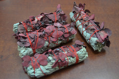 4 Pcs White Sage + Red Eucalyptus Bundle Smudge