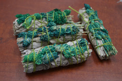 4 Pcs White Sage + Phalaris Grass Bundle Smudge