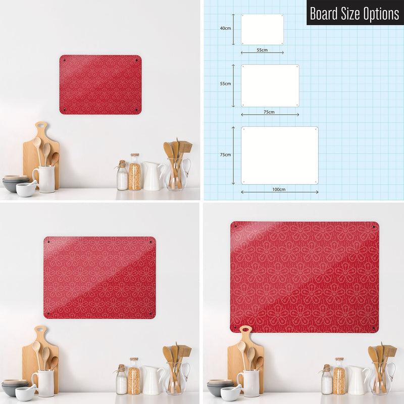 Steel Magnetic Vision Board, Dry Erase Board & Wall Art in FizzyFlower