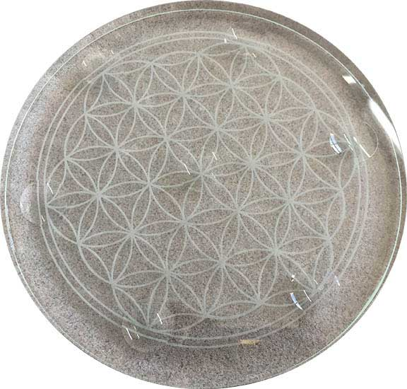 "10"" Flower of Life stand for Chakra Gazing Ball Set"