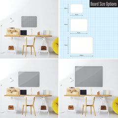 Steel Magnetic Vision Board, Dry Erase Board & Wall Art in Gingham