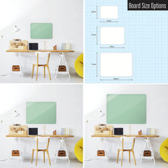 Steel Magnetic Vision Board, Dry Erase Board & Wall Art in Green