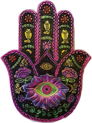 Black & Fuschia Hamsa Incense Burner