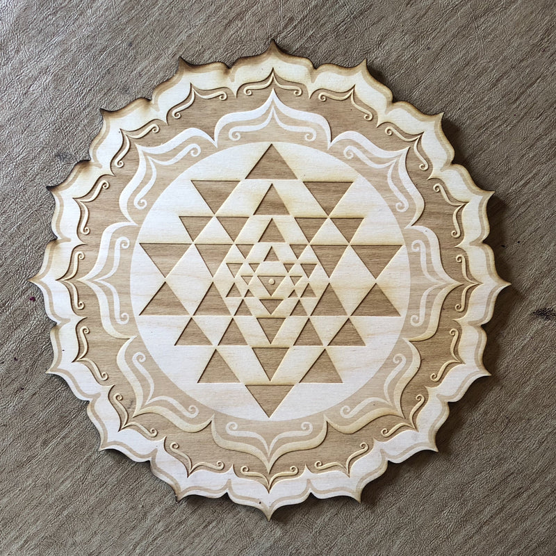 Sri Yantra Crystal Grid