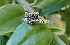 Embrace Me Angel Sterling Silver Ring