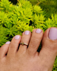 Spiritual Cross Toe Ring
