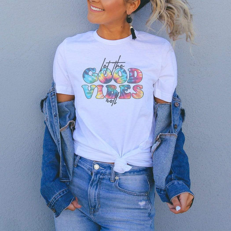 Let The Good Vibes Roll Graphic T-Shirt