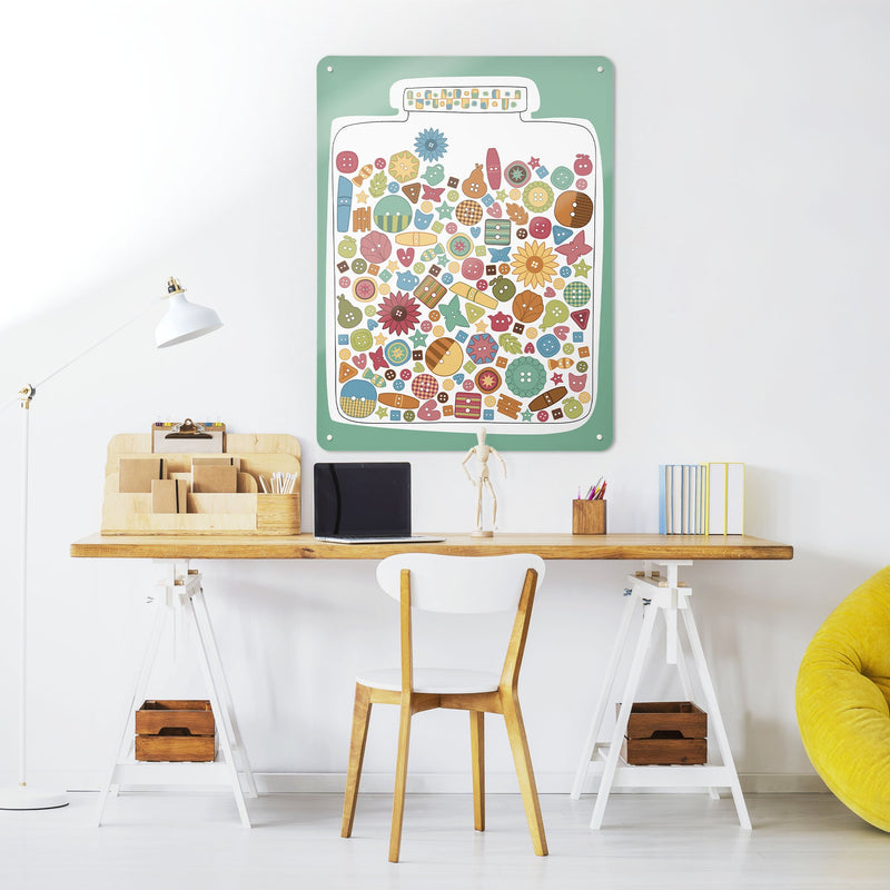 Lucky Jar - Large Magnetic Notice Board