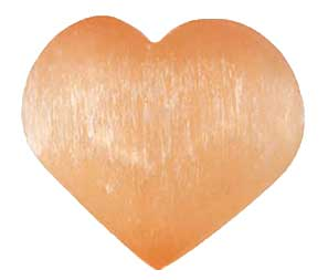 Orange Selenite Heart 2 3/4