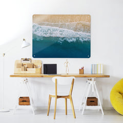 Waves on the Shore - Large Magnetic Notice Board