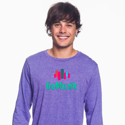 Heather Deep Purple GoMuzik Long Sleeve Tee (Unisex)
