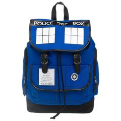 Dr. Who Tardis Backpack  Navy Blue Tardis Backpack - poshopolis
