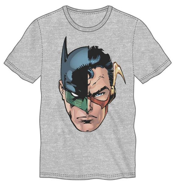 DC Comics Many Superheroes of DC Comics Men's Gray T-Shirt - poshopolis