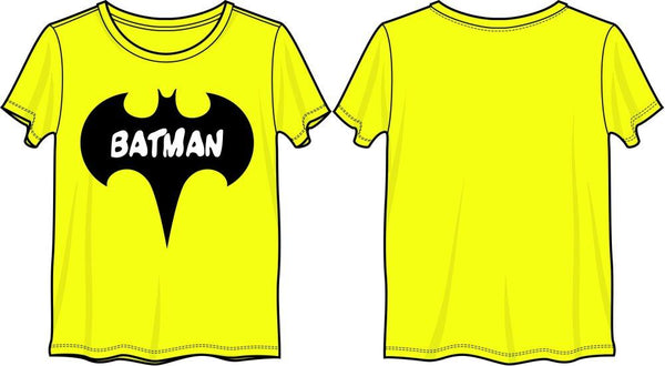 Batman Tshirt for Women - DC Comics Batman Bat Yellow T-Shirt - poshopolis