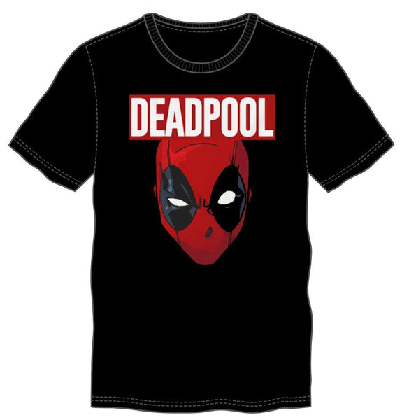 Marvel Comics Deadpool Movie Costume Face Men's Black T-Shirt - poshopolis