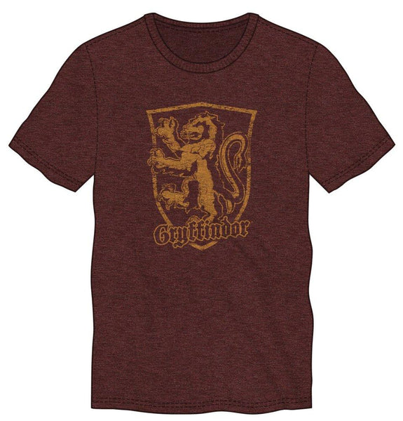 Harry Potter Gryffindor Logo Men's Burgundy T-Shirt - poshopolis