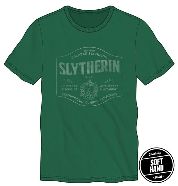 Harry Potter Founder Salazar Slytherin of Slytherin House Hogwarts School of Witchcraft & Wizardry Men's Green T-Shirt - poshopolis