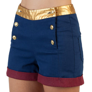 DC Comics Wonder Woman High Waisted Shorts