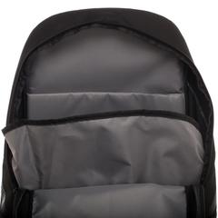 DC ZOOM Backpack  Black Polyester Backpack with Bottom Compartment - poshopolis